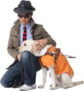 栗山龍太と盲導犬画像2